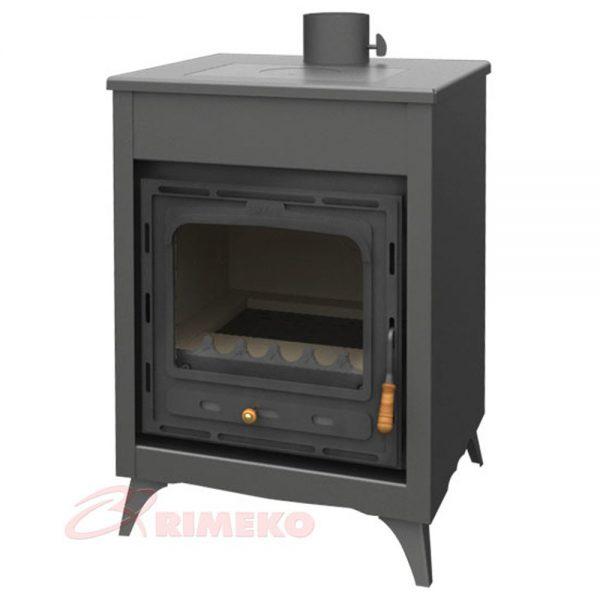 Kamin PRITY CMR Моќ: 15 kW Погоден за простории до83 m2 Големина ( a x b x h /cm) : 66 x 55 x 90 /cm Тежина : 138 кг