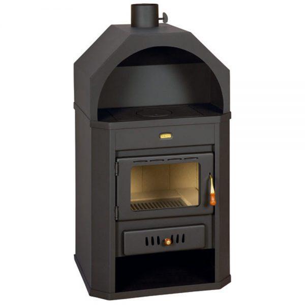 Kamin PRITY Y Моќ: 14 kW Погоден за простории до77 m2 Големина ( a x b x h /cm) : 93 x 58 x 80 /cm Тежина : 107 кг