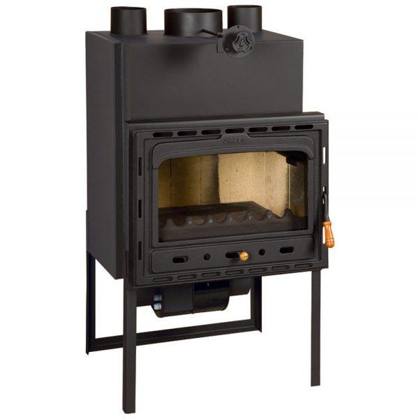 Vgraden Kamin So Ventilator PRITY CF Моќ: 18 kW Погоден за простории до100 m2 Големина ( a x b x h /cm) : 61 x 61 x 116 /cm Тежина : 150 кг