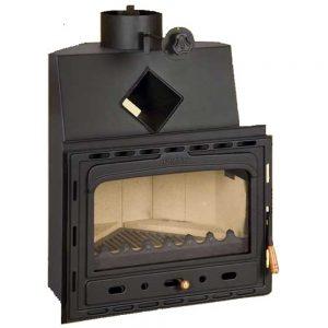 Vgraden Kamin PRITY AC Моќ: 14 kW Погоден за простории до77 m2 Големина ( a x b x h /cm) : 66 x 55 x 79 /cm Тежина : 92 кг