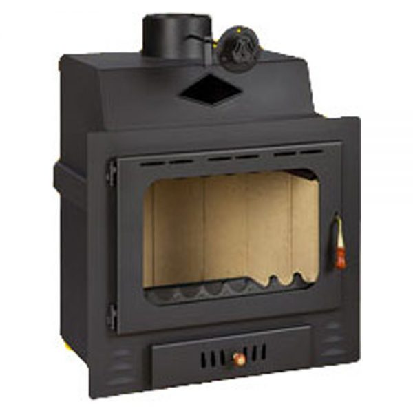 Vgraden Kamin PRITY G Моќ: 16 kW Погоден за простории до 90 m2 Големина ( a x b x h /cm) : 75 x 58 x 78 /cm Тежина : 119 кг