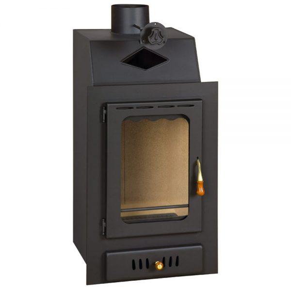 Vgraden Kamin PRITY VM Моќ: 13 kW Погоден за простории до70 m2 Големина ( a x b x h /cm) : 50 x 52 x 90 /cm Тежина : 73 кг