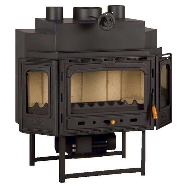 Vgraden Kamin So Ventilator PRITY TC F Моќ: 18 kW Погоден за простории до100 m2 Големина ( a x b x h /cm) : 108 x 60 x 114 /cm Тежина : 190 кг