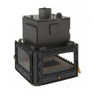Vgraden Kamin PRITY 3CW 35 Моќ: 40 kW Погоден за простории до 230 m2 Големина ( a x b x h /cm) : 80 x 73 x 114 /cm Тежина : 251 кг