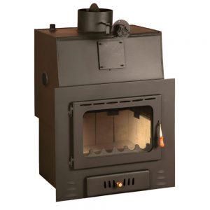 Vgraden Kamin PRITY MW 22 Моќ: 27(22 5) kW Погоден за простории до 150 m2 Големина ( a x b x h /cm) : 70 x 52 x 85 /cm Тежина : 146 кг