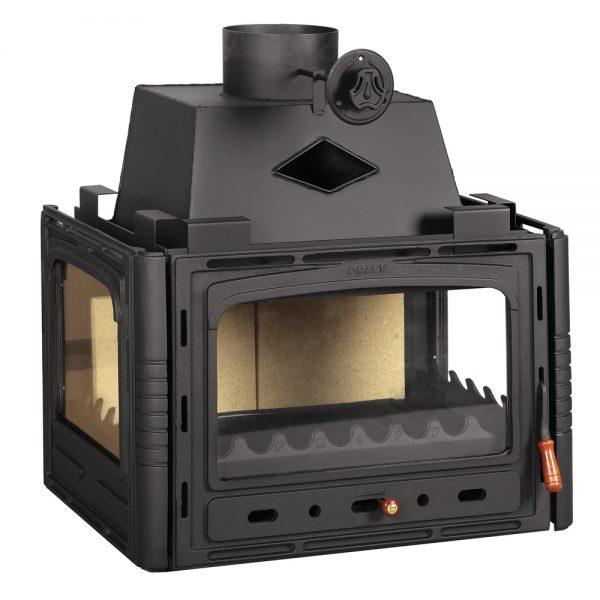 Vgraden Kamin PRITY 3 C Моќ: 16 kW Погоден за простории до85 m3 Големина ( a x b x h /cm) : 77 x 59 x 72 /cm Тежина : 113 кг