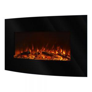 Elektricen Kamin ART FLAME SANTORINI Убава модерна визија и елегантен дизајн Моќ: 750/1500 W Димензии (Ш x В x Д) : 920 x 651 x 131 mm Тежина: 11,3 кг