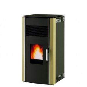 Kamin na peleti ALFA PLAM LUCA Капацитет: 8 kW Површина на загревање:51 m2 Димензии: 500 x 490 x 955 mm Капацитет на резервоарот за пелет: 23kg