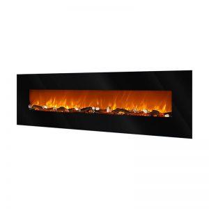 Elektricen Kamin ART FLAME ELIT - Далечински управувач - Моќ: 750/1500 W - Димензии (Ш x В x Д): 550*1820*140 mm - Погоден за простории : 15 m²