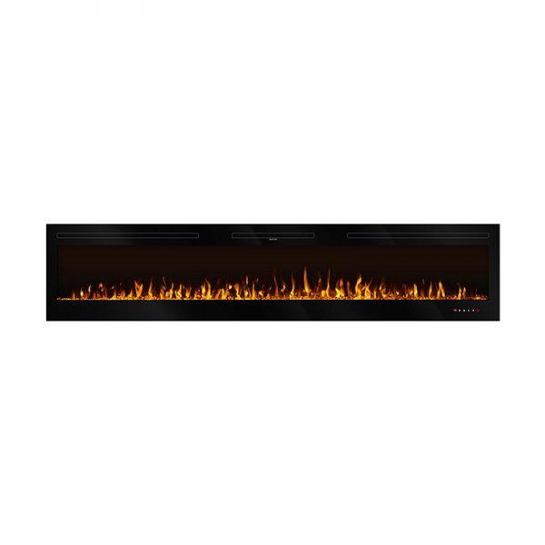 Elektricen Kamin ART FLAME FIJI - Далечински управувач - Моќ: 750/1500 W - Димензии (Ш x В x Д): 544*2540*140 mm - Погоден за простории : 15 m²
