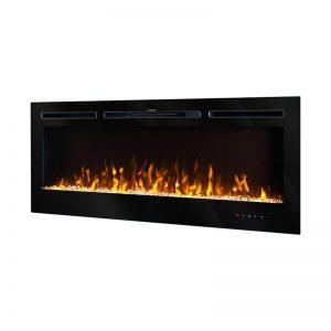 Elektricen Kamin ART FLAME HERMES - Далечински управувач - Моќ: 1500 W - Димензии (Ш x В x Д): 544*1280*140 mm - Погоден за простории : 15 m²