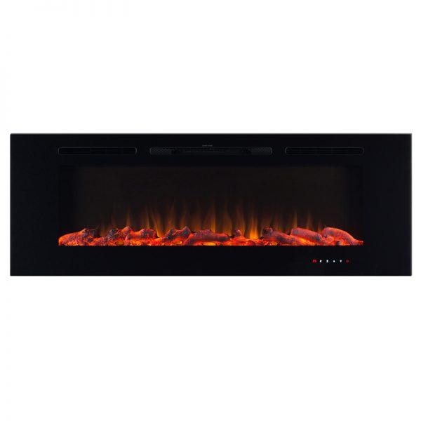 Elektricen kamin ART FLAME HEFEST - Моќ: 750/1500 W - Бои на пламенот - жолт / син / жолто-син - Димензии (Ш x В x Д): 1527 x 140 x 544 mm - Погоден за простории : 20 m² - Touch контролен дисплеј