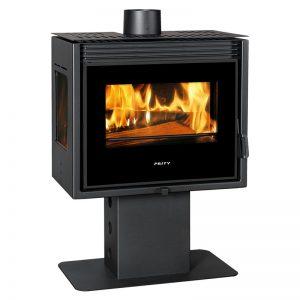 Kamin PRITY PM3L-TV - Моќ: 13 kW - Погоден за простории до 80 m2 - Големина (a x b x h /cm): 69 x 39 x 94 cm